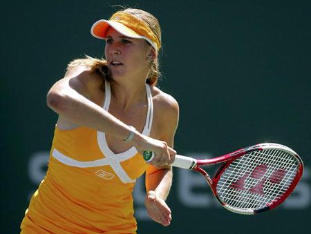 Ніколь Вайдішова (Nicole Vaidisova) з Чехії під час турніру. Фото: Matthew Stockman/Getty Images