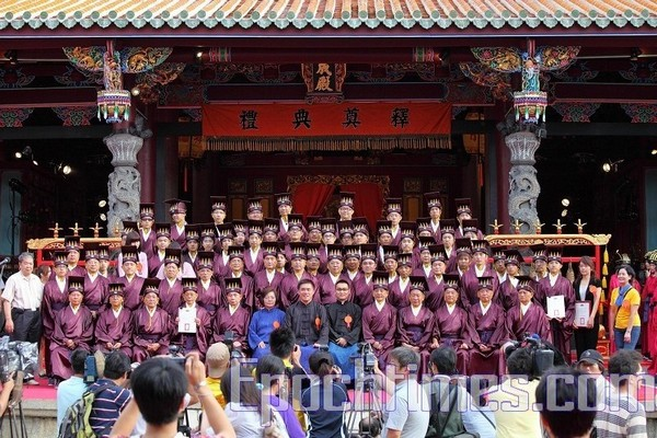 Почётные участники церемонии празднования дня рождения Конфуция. Тайбэй, Тайвань. 28 сентября 2009 год. Фото: The Epoch Times