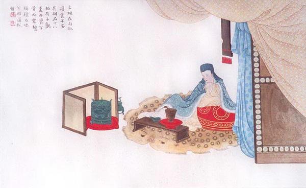 Цай Вэньцзи было трудно привыкнуть к культуре и пище гуннов. Рисунок: Чжан Цуйин