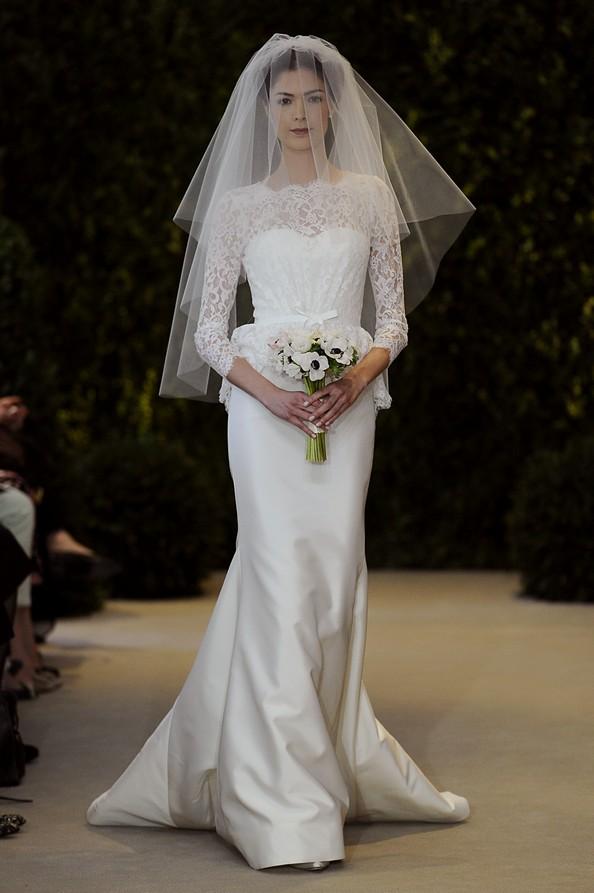 Carolina Herrera: новая коллекция свадебных платьев весна-лето 2014. Фото: Fernanda Calfat/Getty Images