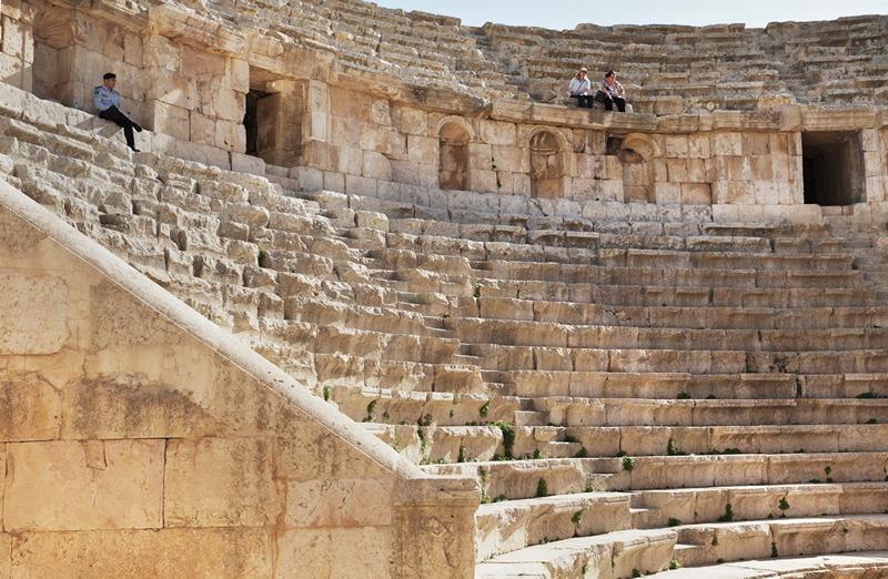 Руины древнего иорданского города Джераш, недалеко от Аммана, столицы Иордании. Фото: Adam Pretty/Getty Images