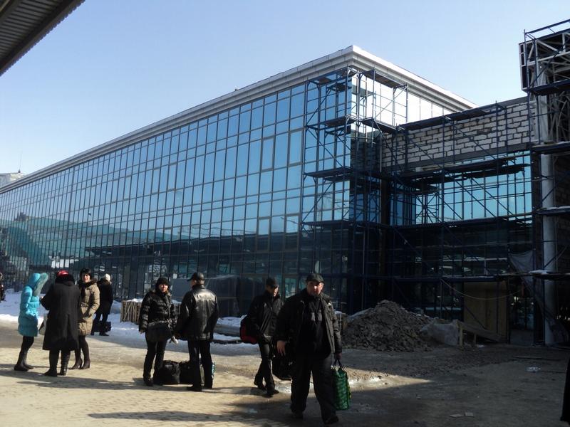 Залізничний вокзал Донецька набуває європейського вигляду. Фото: Росіна Мілостнова. The Epoch Times Україна