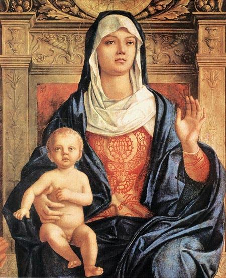Джованни Беллини. Надалтарное украшение Св. Иова (деталь). Галерея Академии, Венеция, Италия