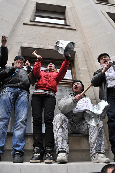 Массовый протест предпринимателей в Киеве 22 ноября против нового Налогового кодекса. Фото: Владимир Бородин/The Epoch Times Украина
