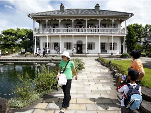 Mitsubishi № 2 Dock House в Glover Garden. Тут представлені експонати особняків колишніх західних жителів в Нагасакі. Фото: Kiyoshi Ota / Getty Images
