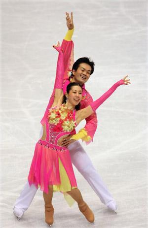 Японські фігуристи Nozomi Watanabe і Akiyuki Kido на чемпіонаті в Токіо. Фото: Koichi Kamoshida/Getty Images