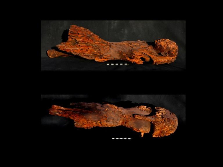 Найденная деревянная статуя женщины-фараона. Фото: Mary-Ann Pouls Wegner
