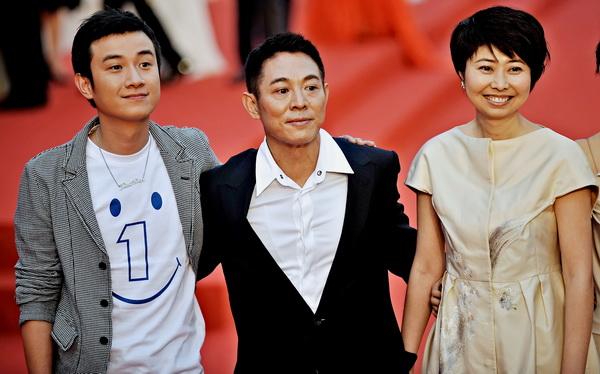 Китайские актеры Вэнь Чжан, Джет Ли и Люньмей Квай. Фото: PHILIPPE LOPEZ/AFP/Getty Images