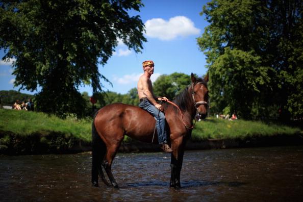 Знаменитая конная ярмарка открылась в Эпплби. Фото: Christopher Furlong/Getty Images