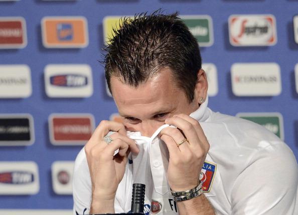 Антоніо Кассано з Італії під час прес-конференції збірної Італії 12 червня 2012 року у Кракові. Фото: Клаудіо Вілла/Getty Images