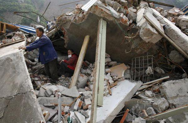 Пострадавшие от землетрясения районы провинции Сычуань. Фото: Paula Bronstein/Getty Images