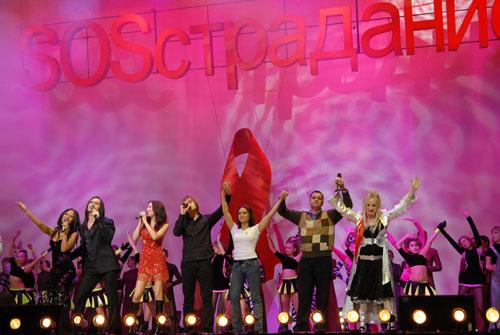 Лилия Подкопаева и звезды украинской эстрады на благотворительном концерте «SOSстрадание». Фото: Владимир Бородин/Великая Эпоха