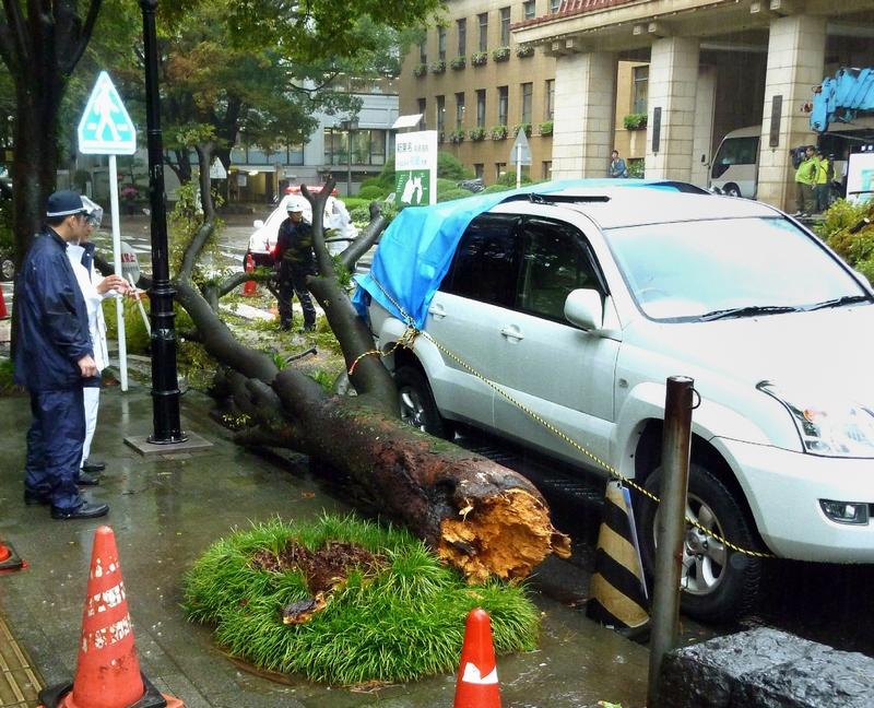 На центральну частину Японії обрушився тайфун Роке. Фото: Getty Images