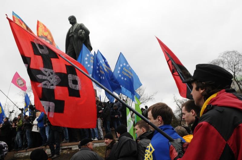 Мітинг «Вставай, Україно!» 7 квітня в Києві. Фото: Велика Епоха