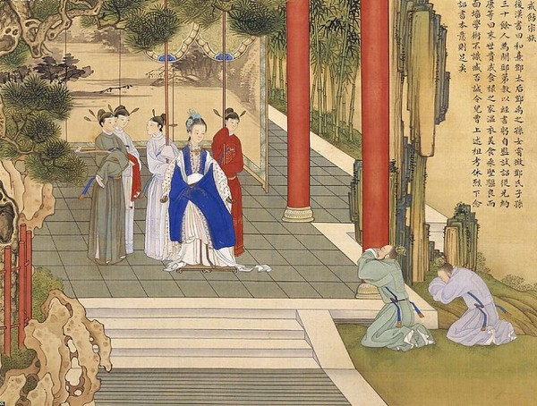 Императрица Си Дэн (династия Хань). Художник Цяо Бинчжэнь
