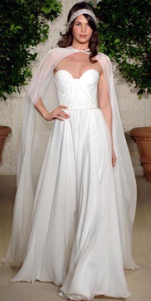 Коллекция свадебных платьев Oscar De La Renta.  Фото: H. Walker/Getty Images