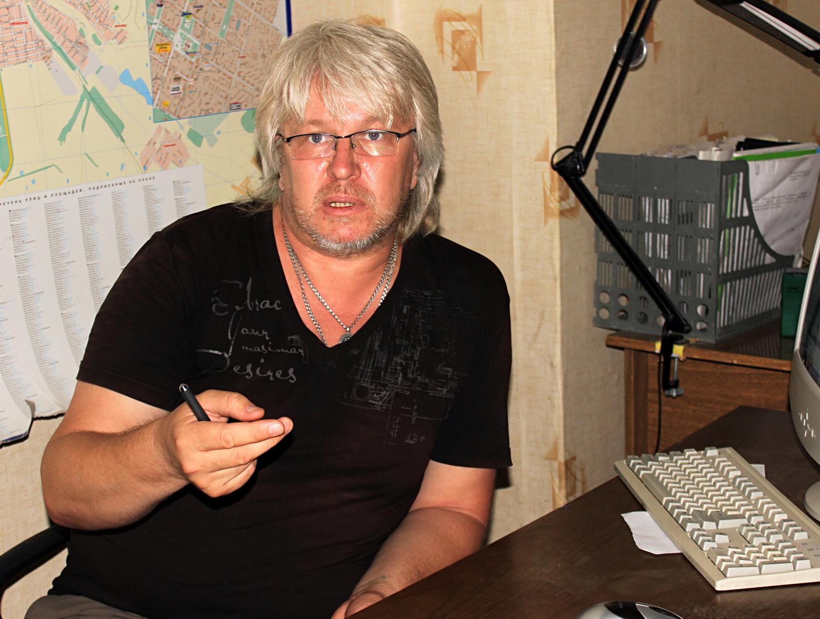 Олег Кубарь, головний редактор газети «Технополіс». Фото: Ірина Рудська