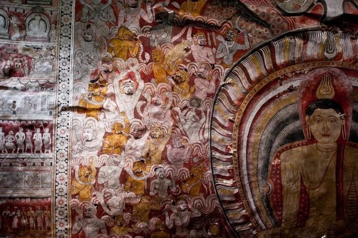 Фрески у храмі Дамбулла. Фото: Original Nomad/Flickr