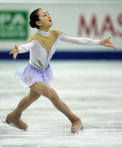 Короткая программа на чемпионате мира-2008 в Гетеборге (Швеция). Фото: YURI KADOBNOV/AFP/Getty Images