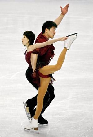 Китайська пара Zhang Hao і Zhang Dan на чемпіонаті в Токіо. Фото: TORU YAMANAKA/AFP/Getty Images