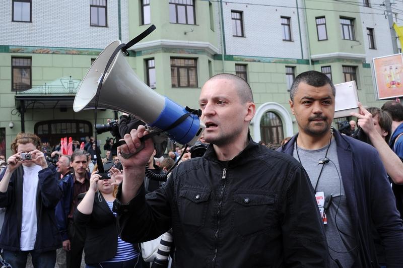 Сергей Удальцов. «Марш миллионов» в Москве. Фото: NATALIA KOLESNIKOVA/AFP/GettyImages