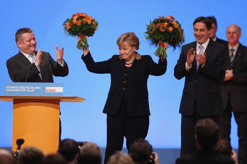 Ганновер, Германия, 4 декабря. Ангела Меркель снова возглавила Христианско-демократический союз. Фото: Sean Gallup/Getty Images