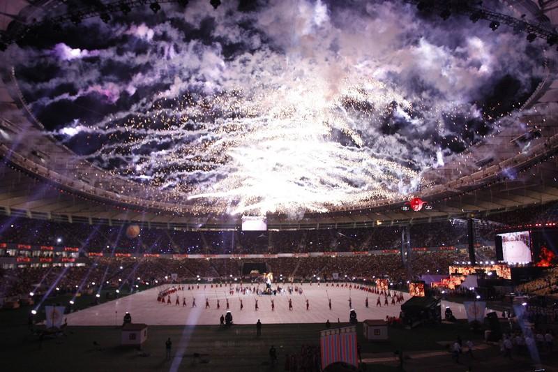 Стадион «Олимпийский» открылся в Киеве после реконструкции. Фото: Евгений Довбуш/The Epoch Times Украина
