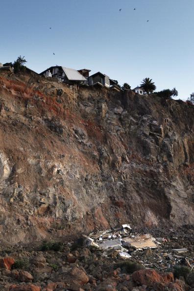 Крайстчерч, Нова Зеландія, 13 червня: залишки зруйнованого будинку в Крок Рок, поблизу Самнера. Фото: Martin Hunter / Getty Images
