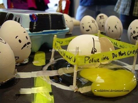 Яичные фантазии. Фото: aboluowang.com
