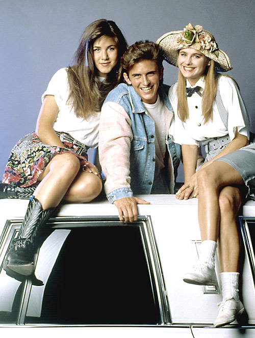 У 1990 році на зйомках комедійного серіалу Ферріс Бьюллер. Фото: hellomagazine.com
