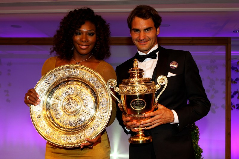 Лондон, Англія, 9 липня. Серена Вільямс і Роджер Федерер — переможці турніру Великого Шолома 2012 в одиночному розряді. Фото: Clive Brunskill/Getty Images