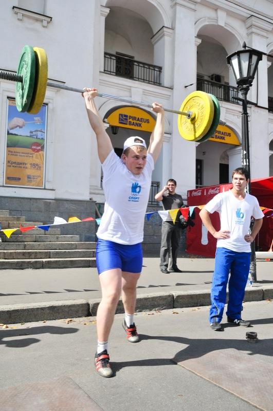 Выступления спортсменов на праздновании Дня физкультуры и спорт а в Киеве 10 сентября 2011 года. Фото: Владимир Бородин/The Epoch Times Украина