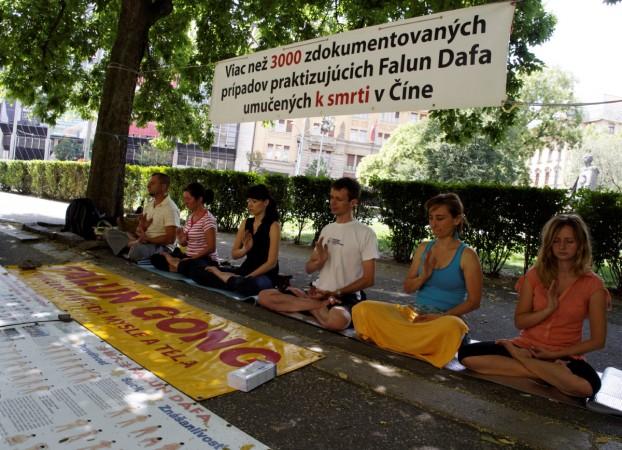 Братислава, Словакия. День памяти погибших от репрессий практикующих Фалунь Дафа. Фото: Великая Эпоха