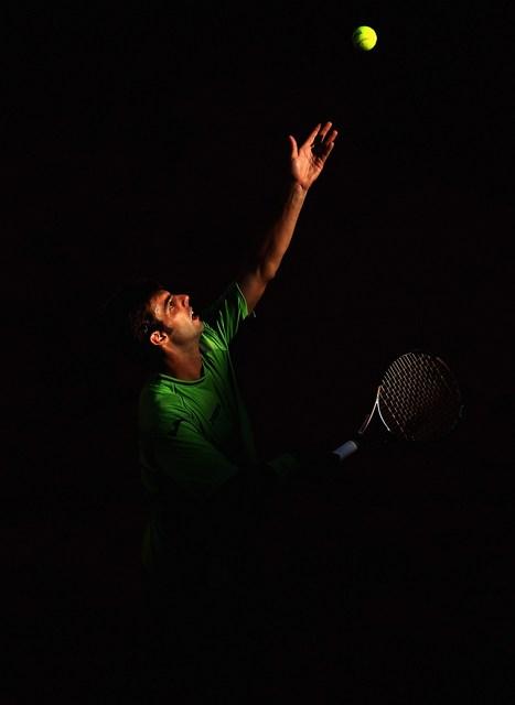 Рим, Італія, 17травня. Марсель Гранольєрс на міжнародному тенісному турнірі Internazionali BNL d'Italia 2012. Фото: Julian Finney/Getty Images