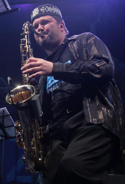 Александр Рукомойников, являестя самым прогрессирующим джазовым саксофонистом Украины/ фото:Катерина Кушнаренко
