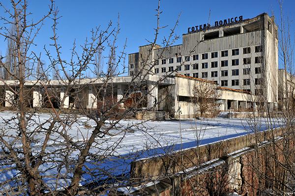 Отель Полесье в Припяти. Фото: Владимир Бородин/The Epoch Times
