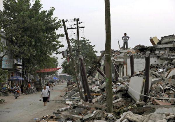 Город Шифан провинции Сычуань после землетрясения. Фото: LIU JIN/AFP/Getty Images