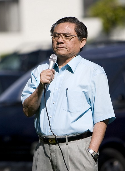 Выступает президент переходного правительства Китая г-н У. (Ji Yuan/The Epoch Times)