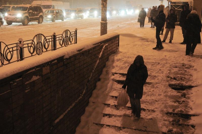 Київ засипав сніг. Фото: Володимир Бородін/Велика Епоха
