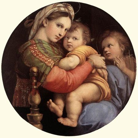 Рафаэль. Мадонна в кресле. Палаццо Питти, Флоренция, Италия