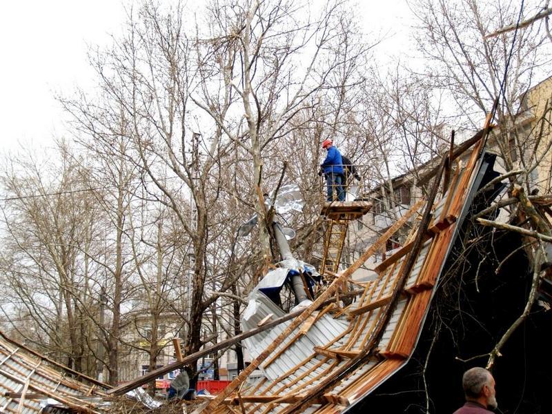 В Крыму бушует ураганный ветер. Фото: crimea.mns.gov.ua