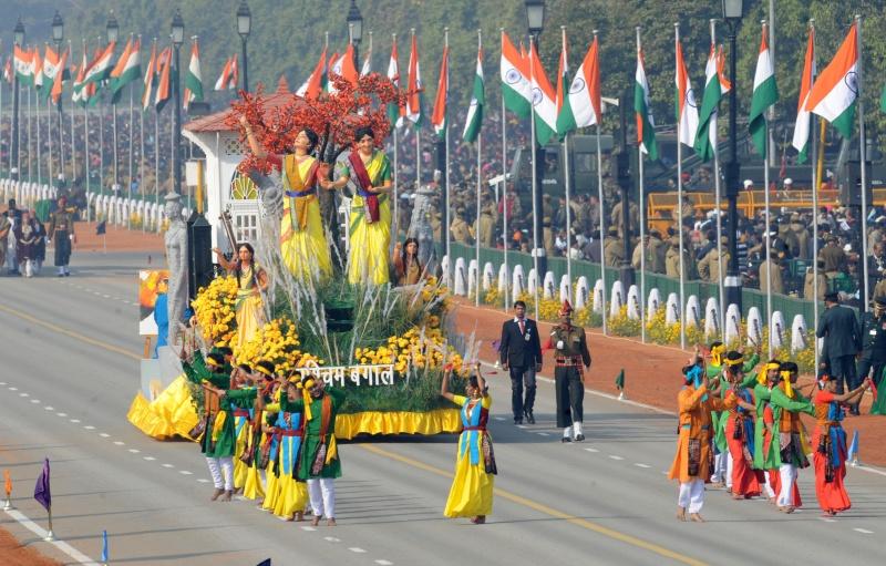 Платформа от штата Западная Бенгалия. Фото: RAVEENDRAN/AFP/Getty Images