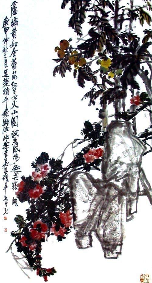 Розы. Художник У Чаншо. 1920 г. Фото с secretchina.com