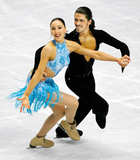 Англійські фігуристи Sinead і John Kerr на чемпіонаті в Токіо. Фото: TORU YAMANAKA/AFP/Getty Images