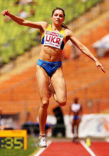 Мюнхен. Германия. Украинка Ольга Solodukha во время Кубка Европы-2007 по лёгкой атлетике.  Фото: Ian Walton/Getty Images