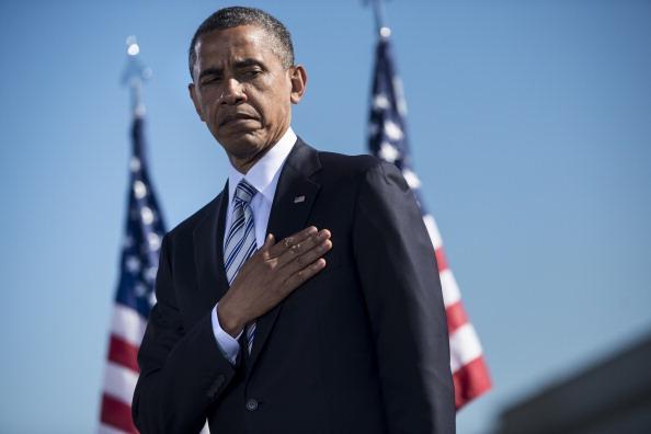 Американцы почтили память жертв «11 сентября». Нью-Йорк. Фото: BRENDAN SMIALOWSKI/AFP/GettyImages