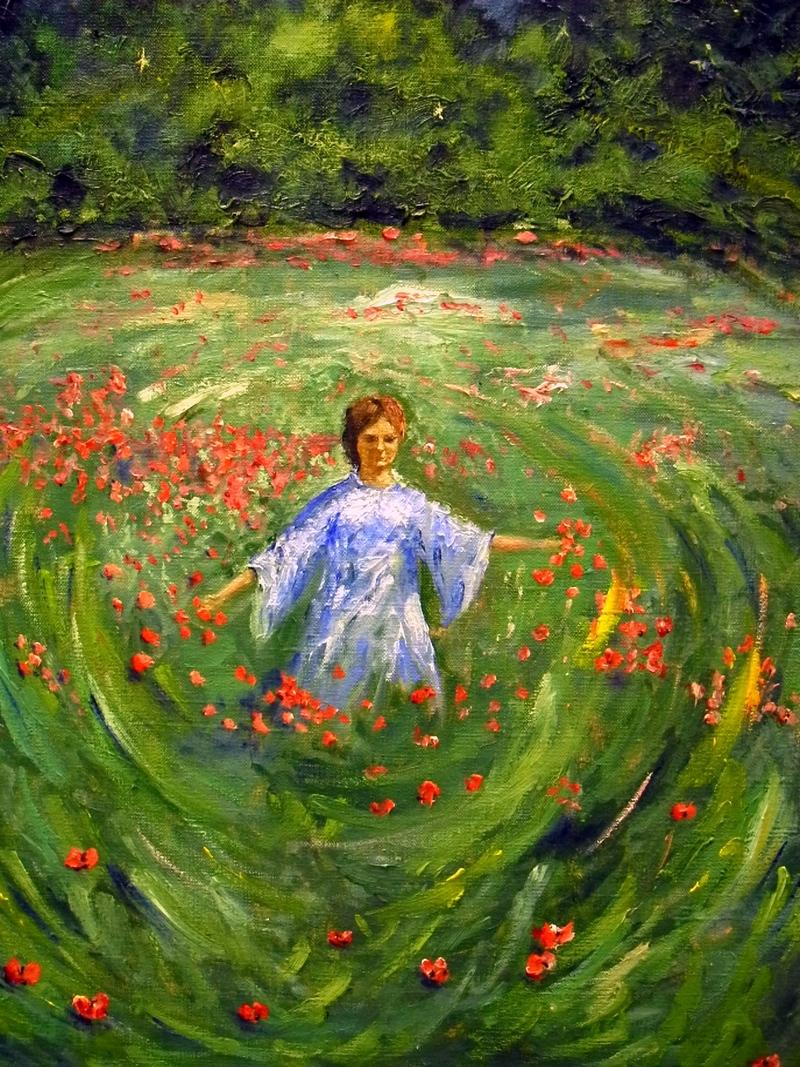 Картина олією «Магія жінки», автор В.Василенко. Фото: Алла Лавриненко/The Epoch Times Україна