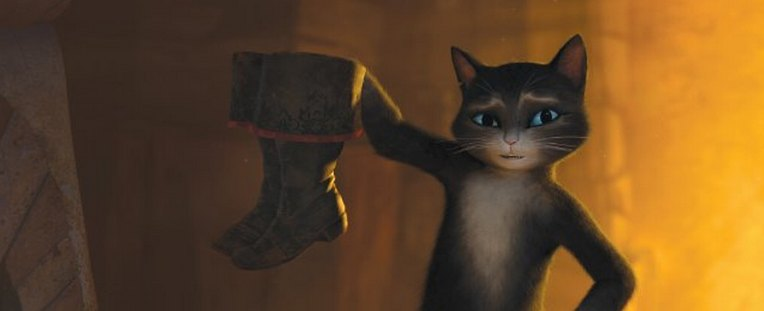 Кадр з фільму Кіт у чоботях