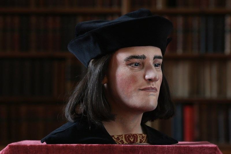 Лондон, Англія, 5 лютого. Так виглядає обличчя короля Річарда III, яке реконструювали вчені на основі черепа, знайденого під час розкопок. Фото: Dan Kitwood/Getty Images