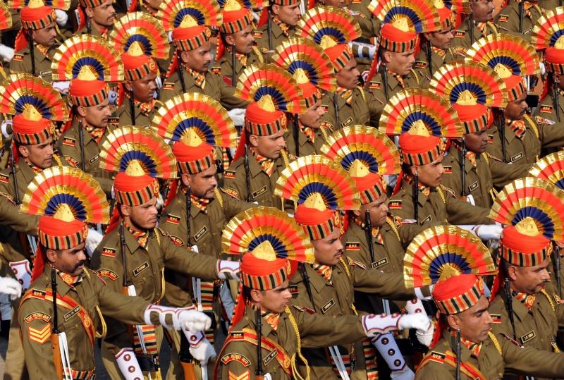 Парад в честь Дня Республики. Нью-Дели, Индия, 26 января 2012 г. Фото: RAVEENDRAN/AFP/Getty Images